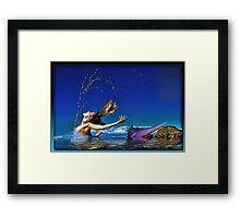 The Playful Mermaid Framed Print