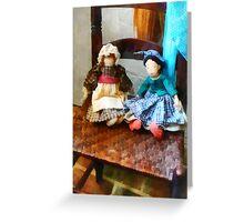 Two Colonial Rag Dolls Greeting Card