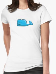 Big Blue Whale Womens Fitted T-Shirt