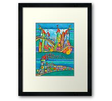 Railroad - Kids Train  Framed Print