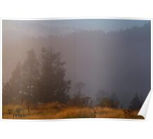 Morning Mist Poon Hill Poster