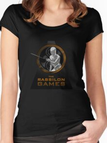 The Rassilon Games (Timescoop Variant) Women's Fitted Scoop T-Shirt