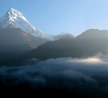 Mountains at Sunrise Poon Hill by SerenaB