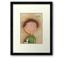 Goal Keeper Tim Framed Print