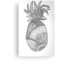 Pineapple Doodle Canvas Print