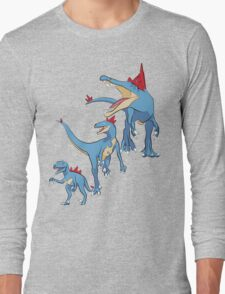 Pokesaurs - Totodilian Evolution Long Sleeve T-Shirt
