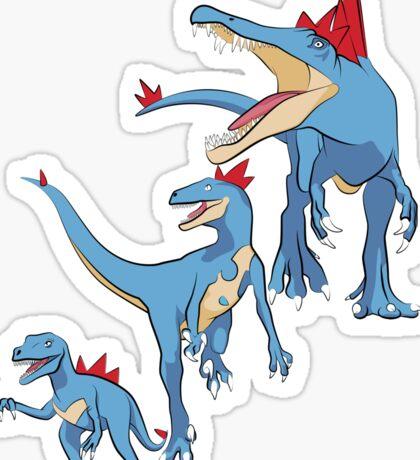 Pokesaurs - Totodilian Evolution Sticker
