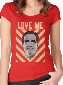 Love me Romney Women's Fitted Scoop T-Shirt