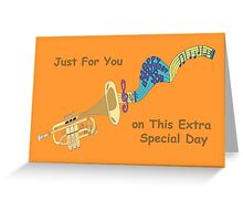 Happy Birthday - Trumpet Playing Birthday Song Greeting Card