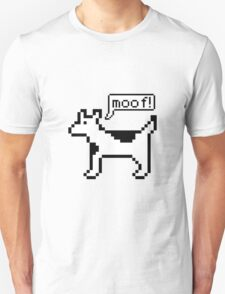 Clarus the dogcow emits a moof Unisex T-Shirt