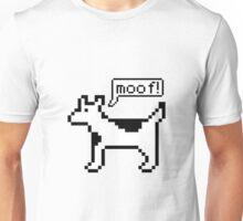 Clarus the dogcow emits a moof Unisex T-Shirt