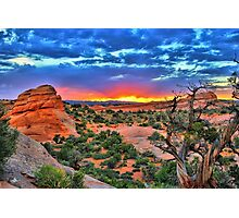 Arches National Park Sunset Photographic Print