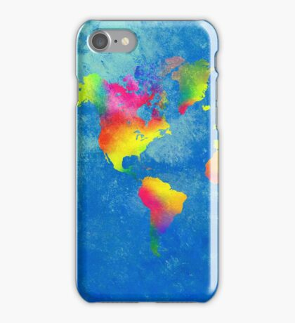 My World Map iPhone Case/Skin