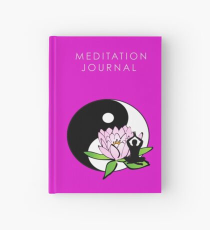7 DAY'S OF SUMMER-YOGA ZEN RANGE-MINDFULNESS PINK Hardcover Journal