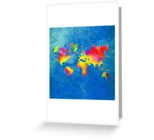 My World Map Greeting Card