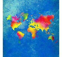 My World Map Photographic Print