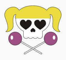 Lollipop Chainsaw She Skull Kids Tee