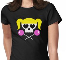 Lollipop Chainsaw She Skull Womens Fitted T-Shirt