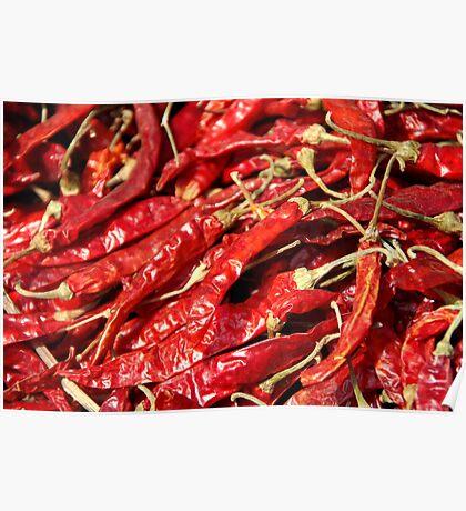 Red Chilies Drying Kathmandu Poster