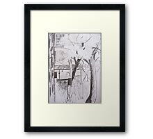 view from the window Framed Print