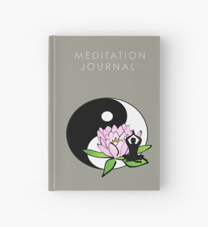 7 DAY'S OF SUMMER-YOGA ZEN RANGE-MINDFULNESS GREY JOURNAL Hardcover Journal
