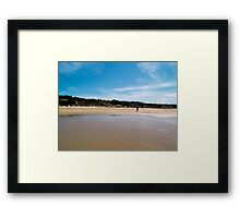 Beach Walker Framed Print