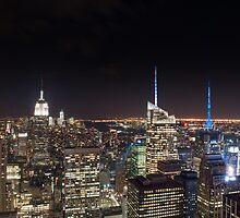 Manhattan Lights by BradKphoto