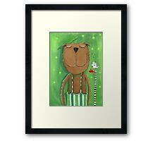 Mr. Bear love Music Framed Print