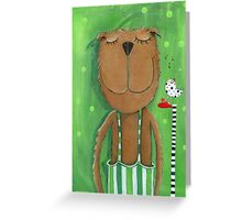 Mr. Bear love Music Greeting Card