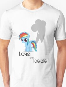 Rainbow Dash - Love & Tolerate T-Shirt