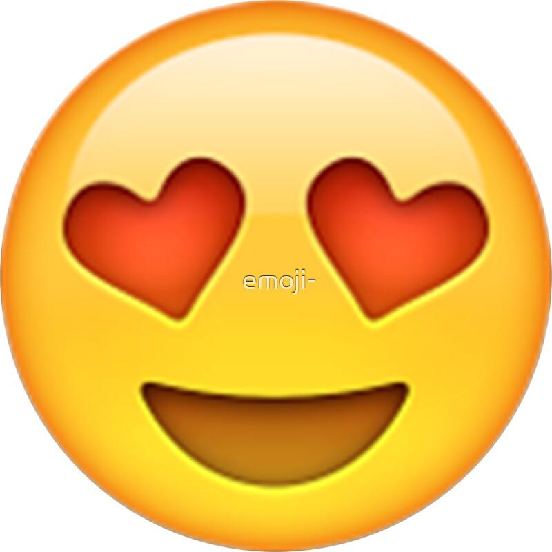 Heart Eyes Emoji: Stickers | Redbubble