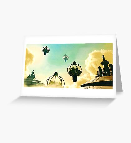 The Flight Across the Three Universes #8 - The Floating Gardens of Balresha 9 // Remembrances Greeting Card