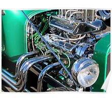 1929 Ford TBucket HotRod in Green Poster
