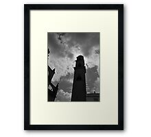 Looming Cathedral Tower Framed Print