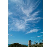 Weaving Clouds Above Signal Tower Photographic Print