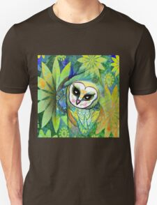 Funky Forest Green Celtic Owl T-Shirt