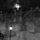 Lamp and Moon by tkubiena