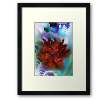 bouquet of purple and red flower Framed Print