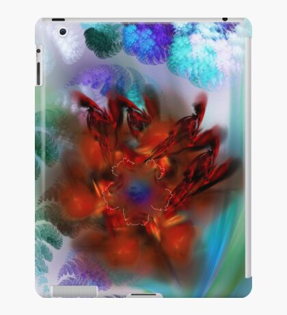 bouquet of purple and red flower iPad Case/Skin