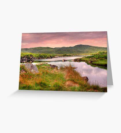 Green Hills of Ireland - The Connemara, Co. Galway, Ireland Greeting Card