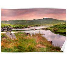 Green Hills of Ireland - The Connemara, Co. Galway, Ireland Poster
