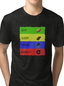 ARK EAT SLEEP TAME REPEAT Tri-blend T-Shirt