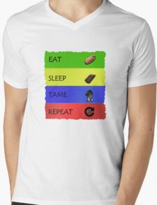 ARK EAT SLEEP TAME REPEAT Mens V-Neck T-Shirt