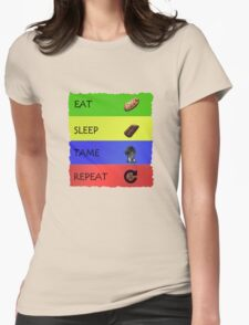 ARK EAT SLEEP TAME REPEAT Womens Fitted T-Shirt