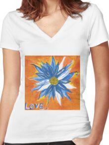 Love. Women's Fitted V-Neck T-Shirt