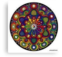 Mandala 42 Rainbow Prints, Cards & Posters Canvas Print