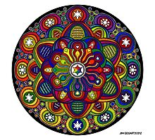 Mandala 42 Rainbow Prints, Cards & Posters Photographic Print