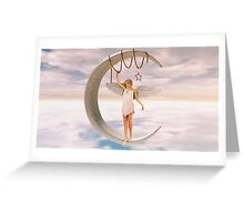 Moon Angel Greeting Card