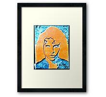 Orange and Black Jimmy Framed Print