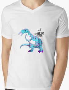 Trans TREX Mens V-Neck T-Shirt